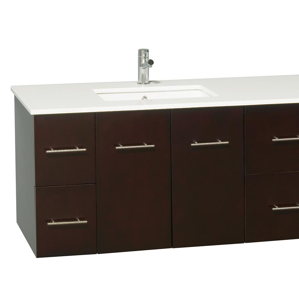80 zentra double sink vanity espresso - Espresso double sink bathroom vanity ...