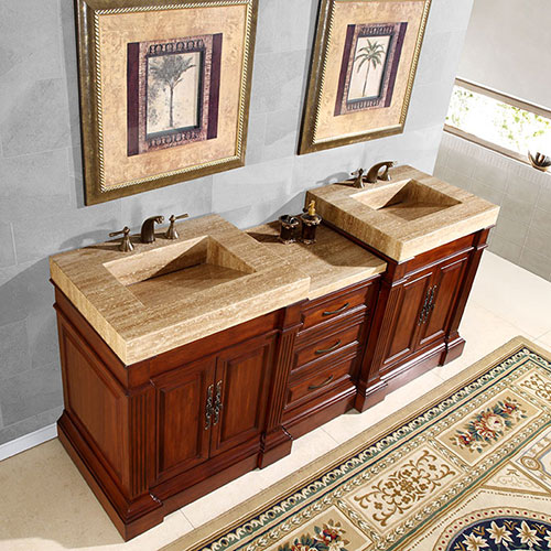 "83"" Rutilius Double Bath Vanity"
