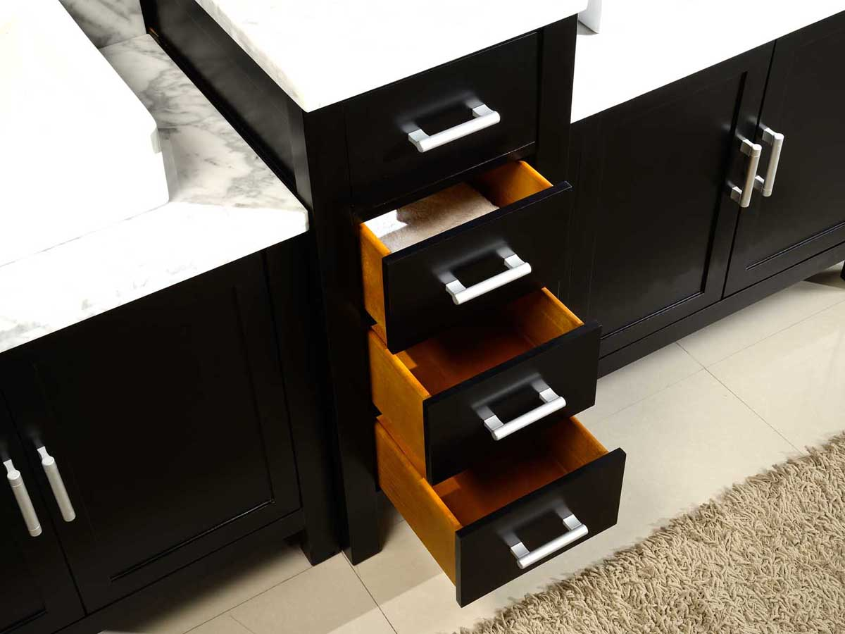 Four spacious drawers with soft-closing glides