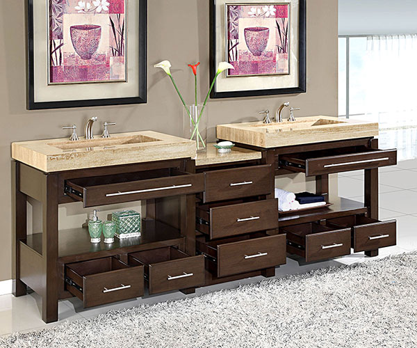 Awesome Double Sink Vanity With Drawers Gallery - 3D house designs ...