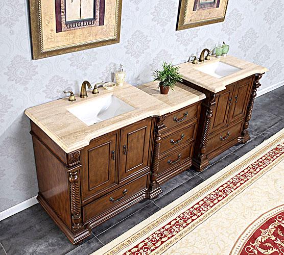 """91.5"""" Sidonius Double Sink Vanity"""