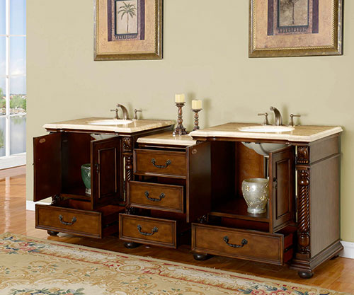 Two Double-Door Cabinets and Four Drawers