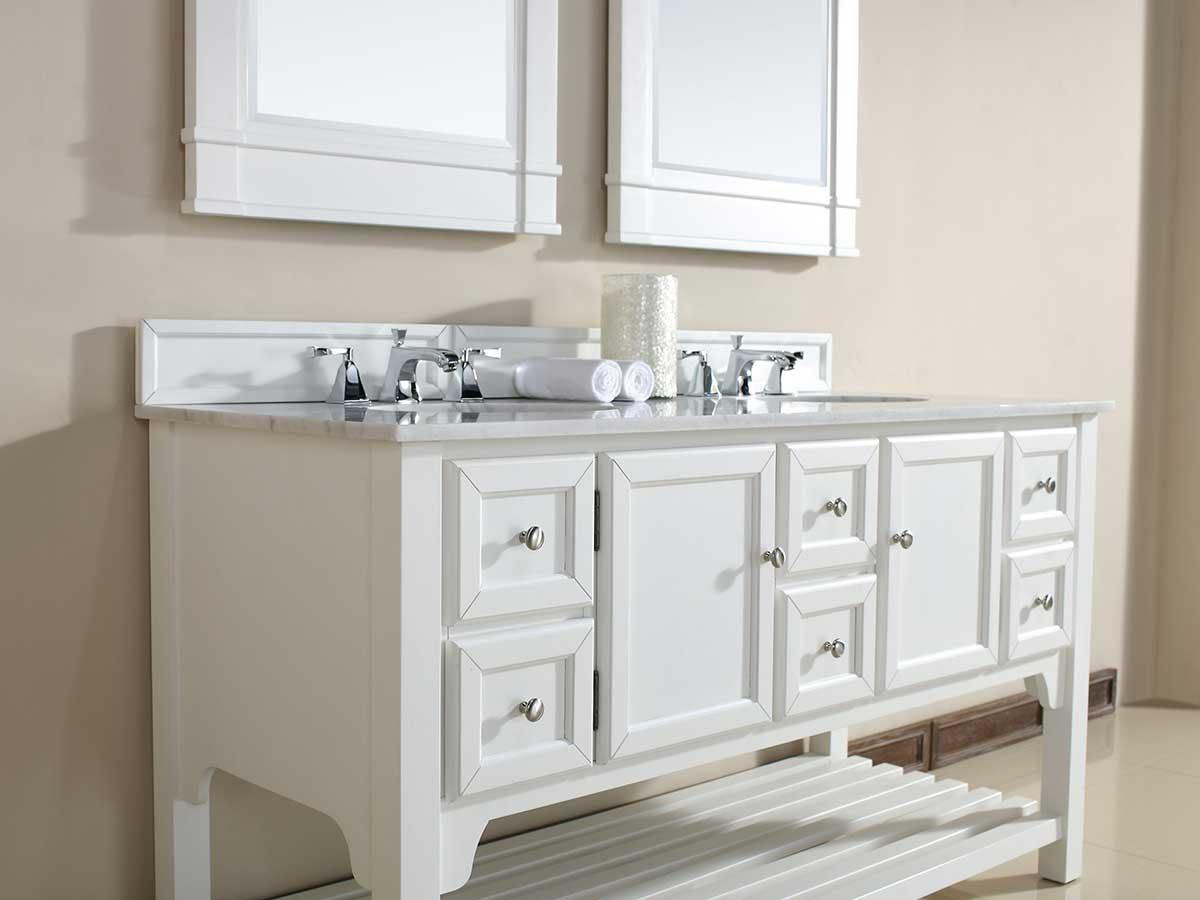 "60"" South Hampton Double Sink Vanity - Pure White"