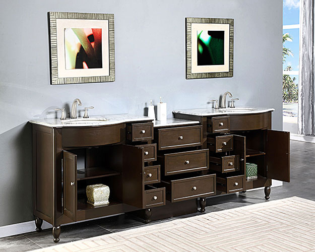 Two Double-Door Cabinets and Eleven Drawers