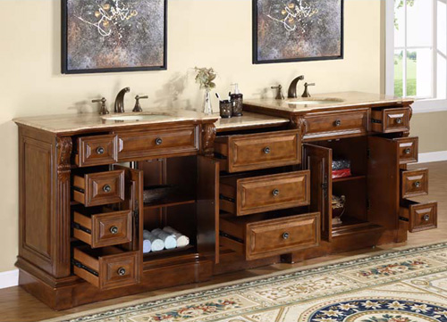 Eleven Drawers and Two Double-Door Cabinets