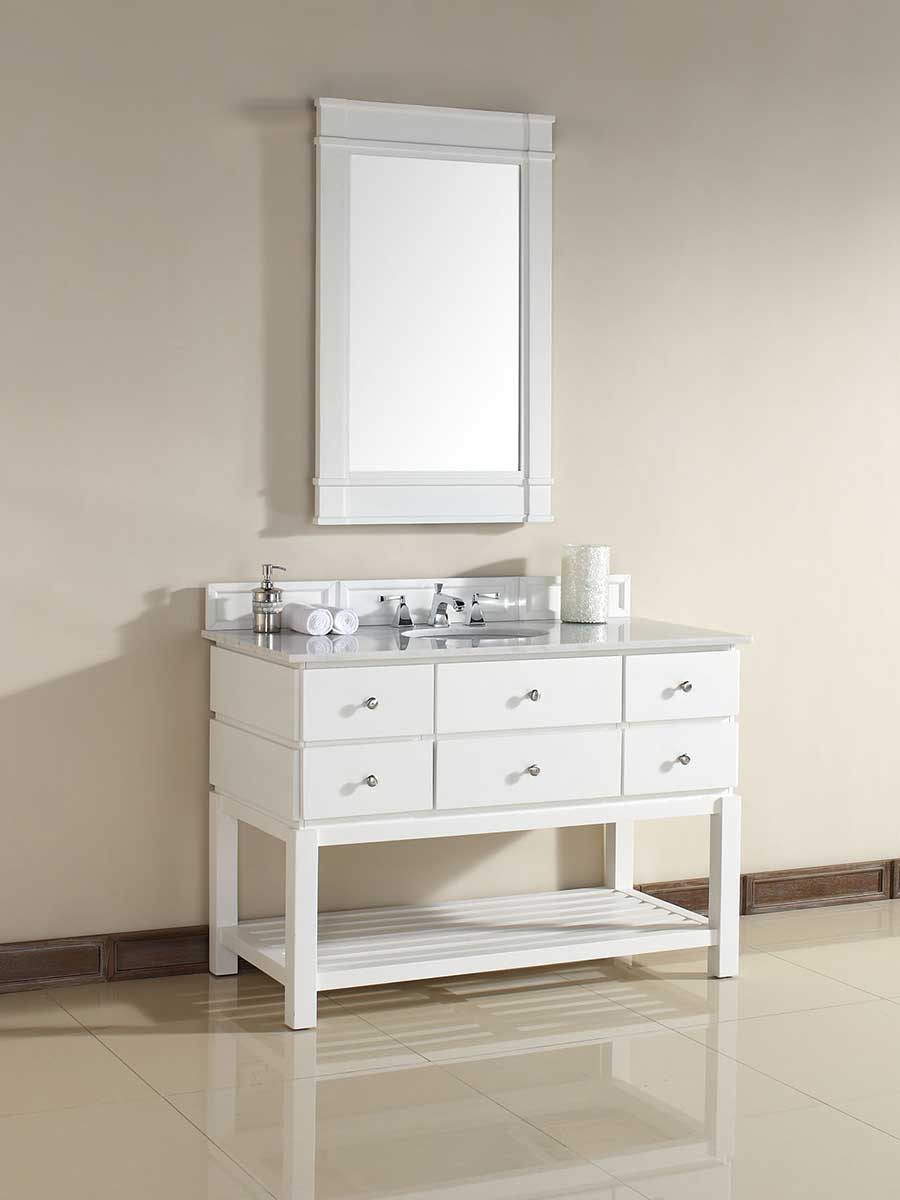 "48"" Andover Single Bath Vanity - Pure White"