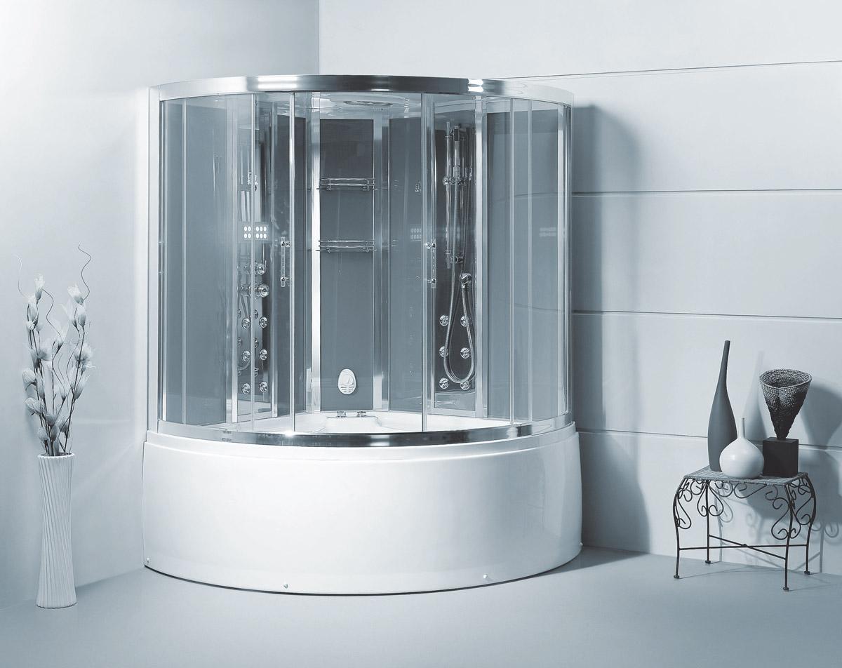 Augustus Steam Shower with Whirlpool Bathtub