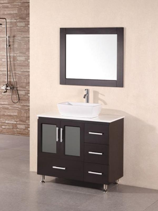 """36"""" Stanton Modern Vessel Sink Vanity"""