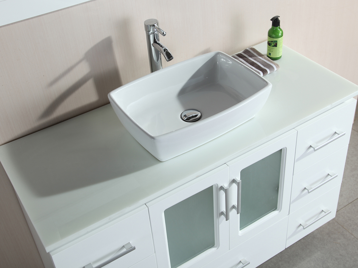 Composite Stone Top With Porcelain Vessel Sink