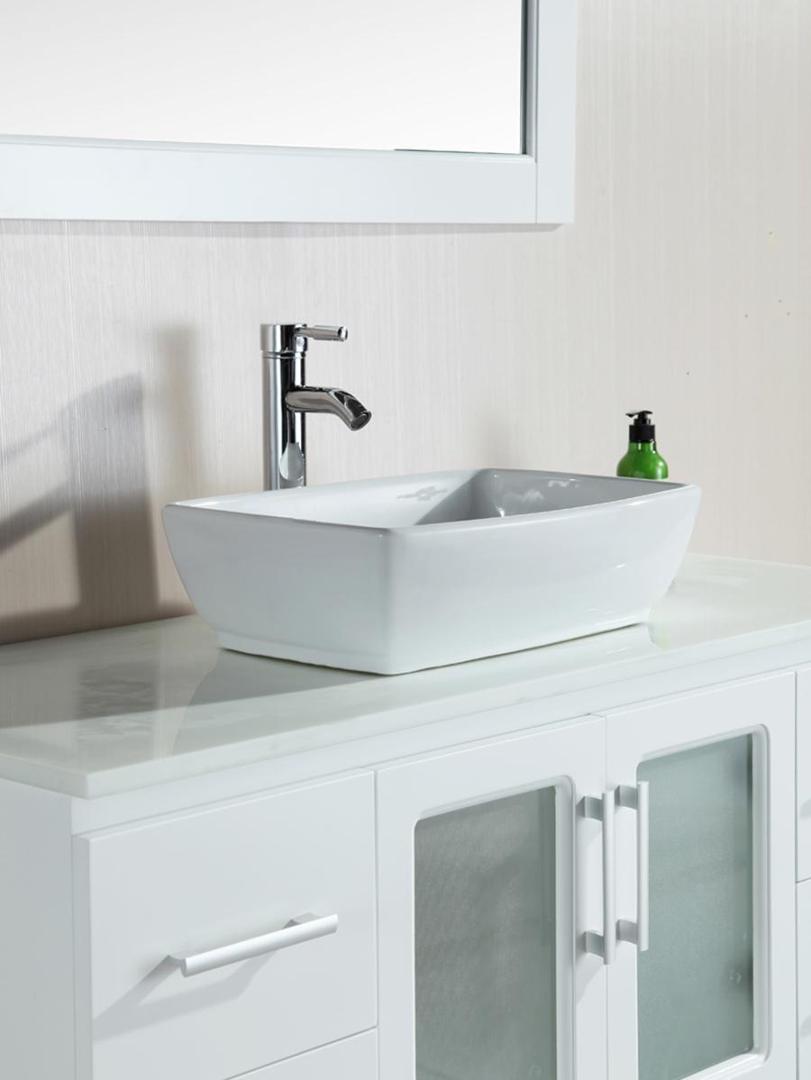 Rectangular Porcelain Vessel Sink