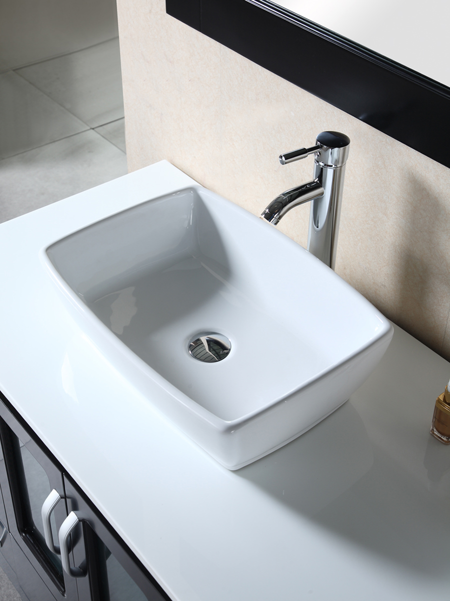 Artificial Stone Top and Porcelain Vessel Sink