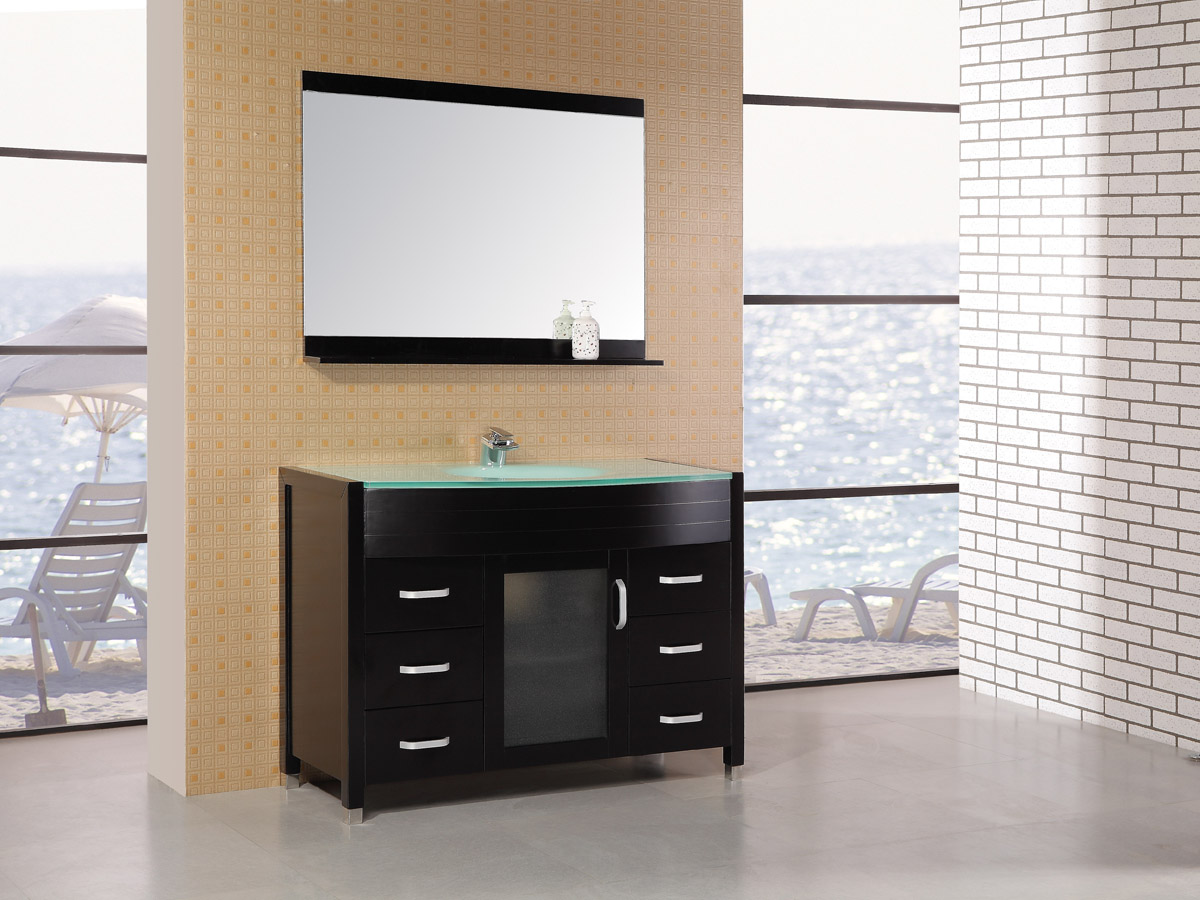 "47.25"" Waterfall Single Vanity - with matching mirror"