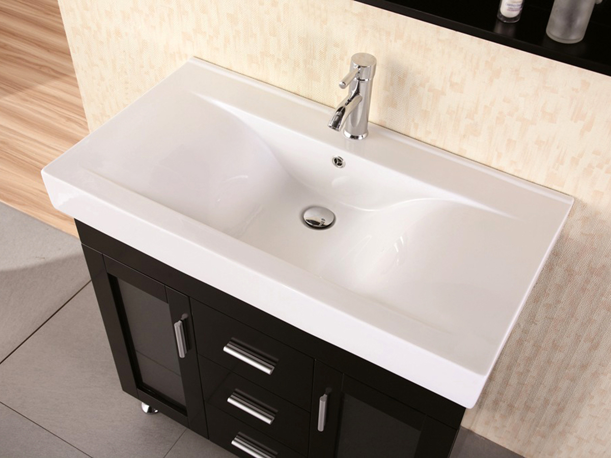 Integrated porcelain sink top