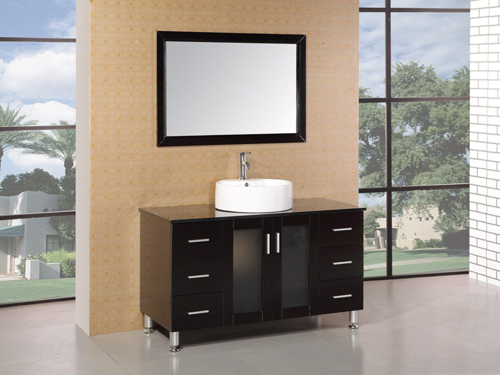 "47"" Malibu Wide Single Vanity with included mirror"