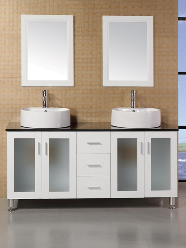 60 Malibu Double Vessel Sink Vanity