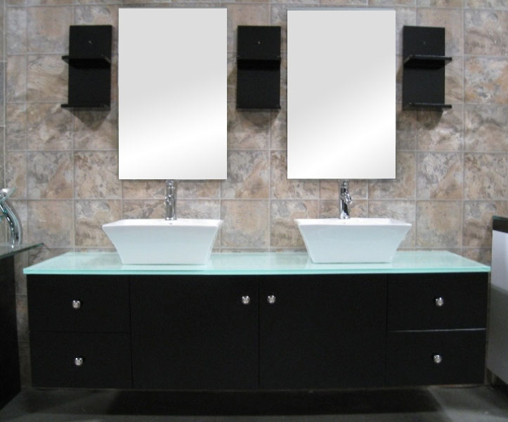 "61"" Portland Double Vessel Sink Vanity"