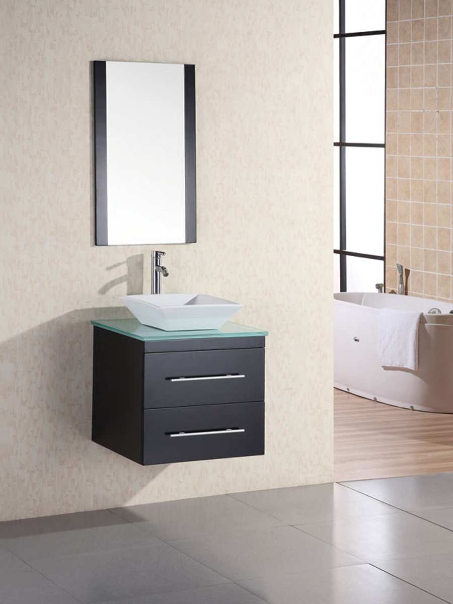 "24"" Portland Vessel Sink Vanity with included mirror"