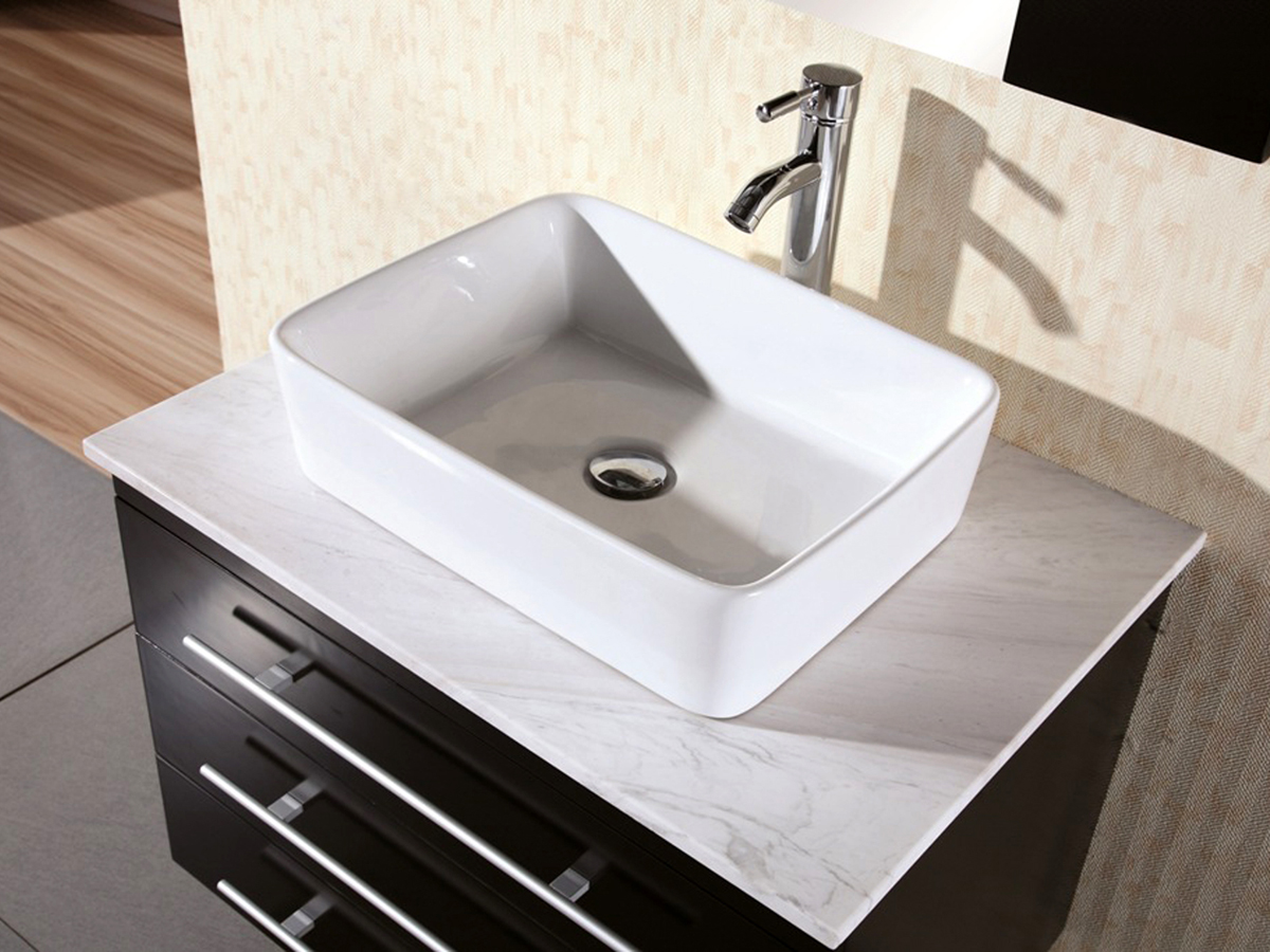 Superieur Marble Top And Porcelain Vessel Sink