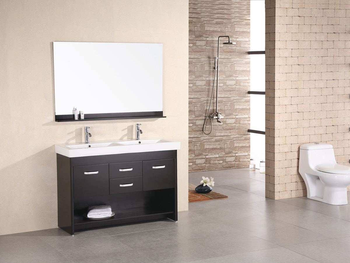 "47.5"" Citrus Double Vanity with included mirror"