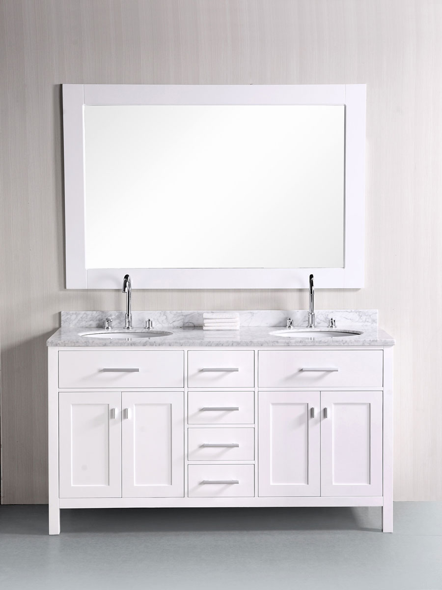 61 london bathroom vanity white finish