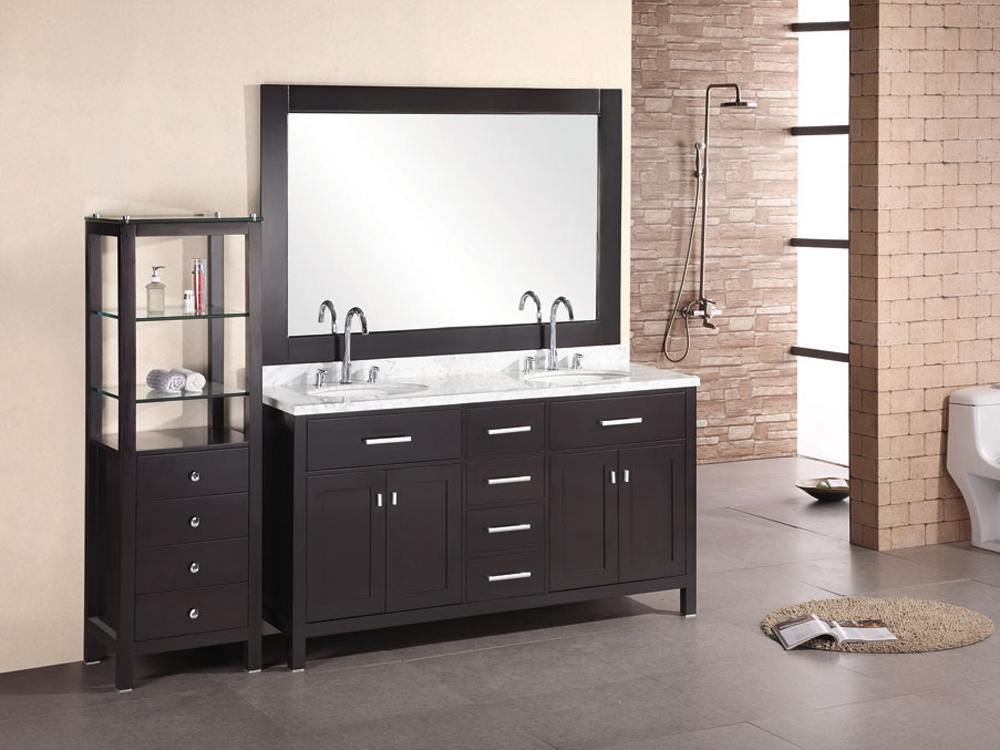 "61"" London Double Vanity - with optional linen cabinet"