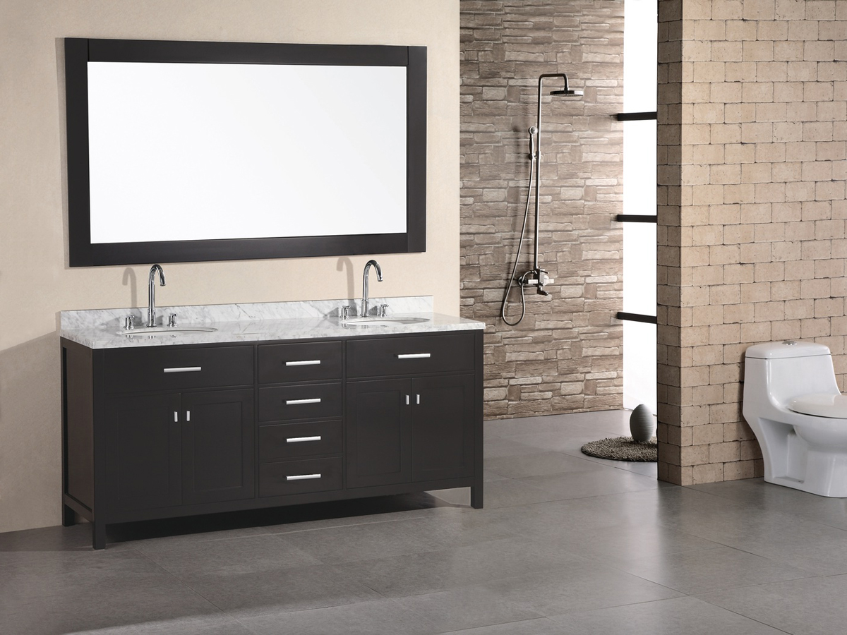 """72"""" London Double Vanity with included mirror"""