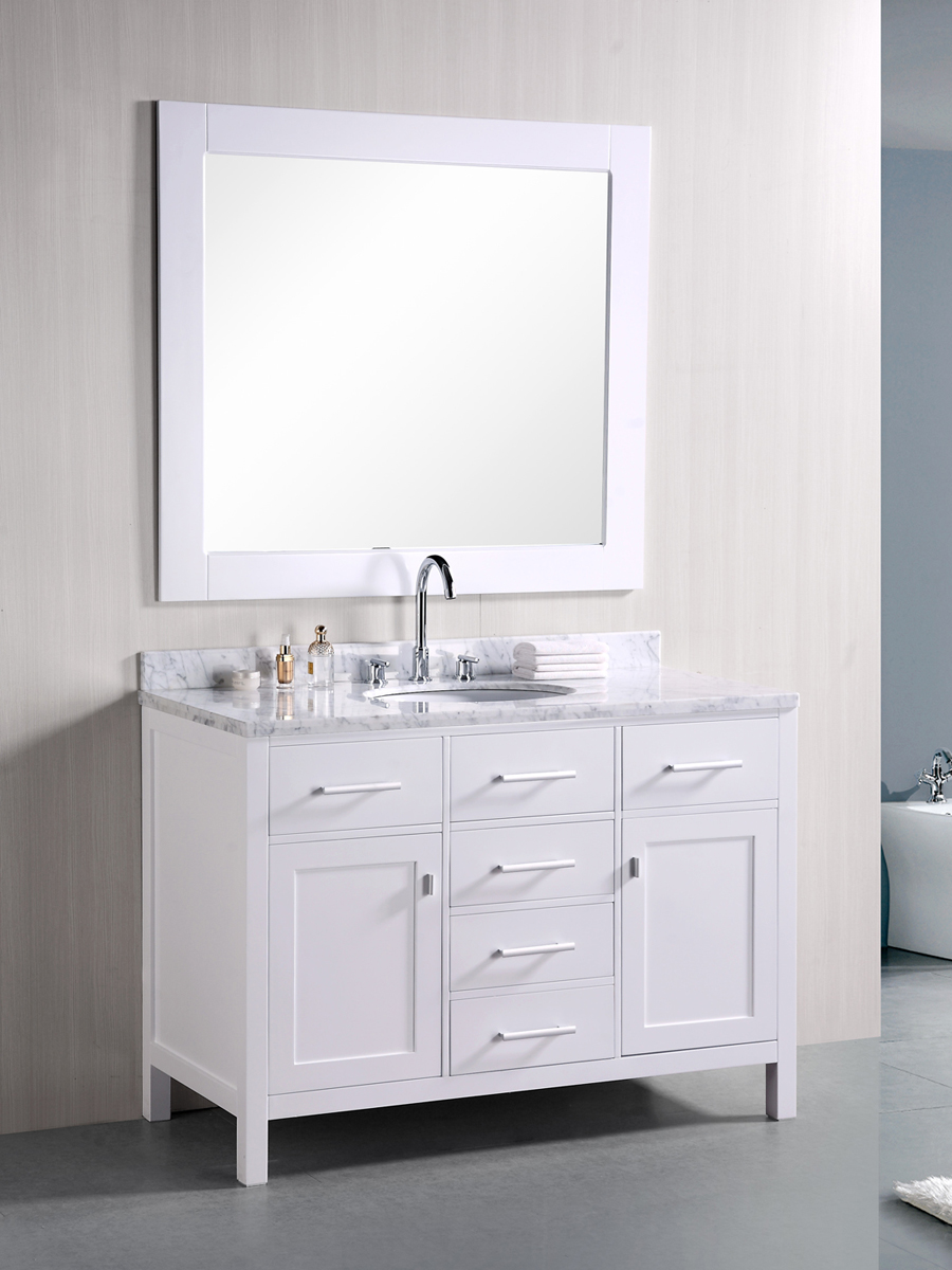 "48"" London Single Vanity with included mirror"