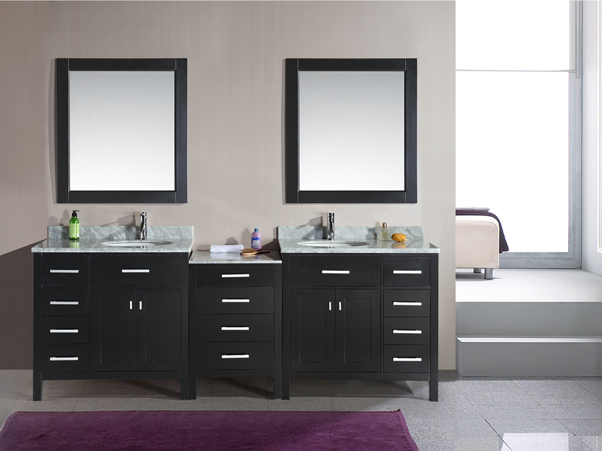 "92"" London Double Sink Vanity"