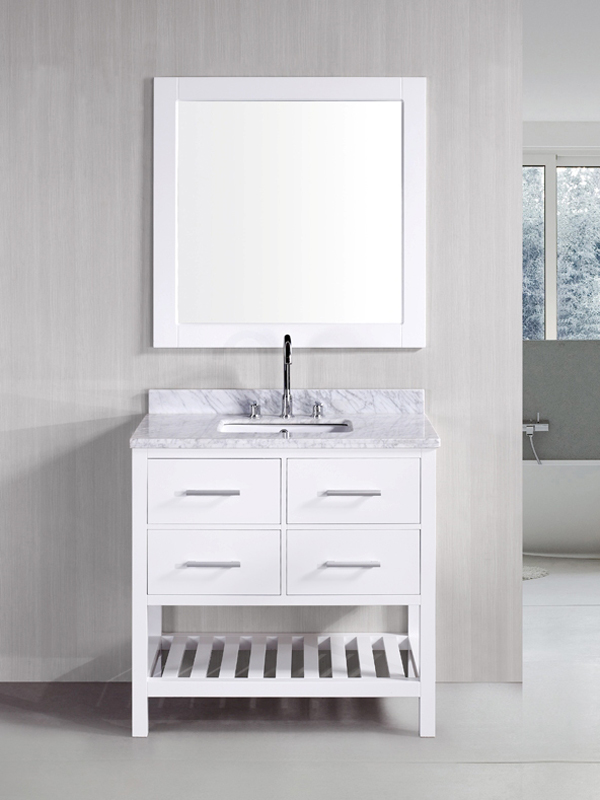 "35.5"" London Single Vanity with included mirror"