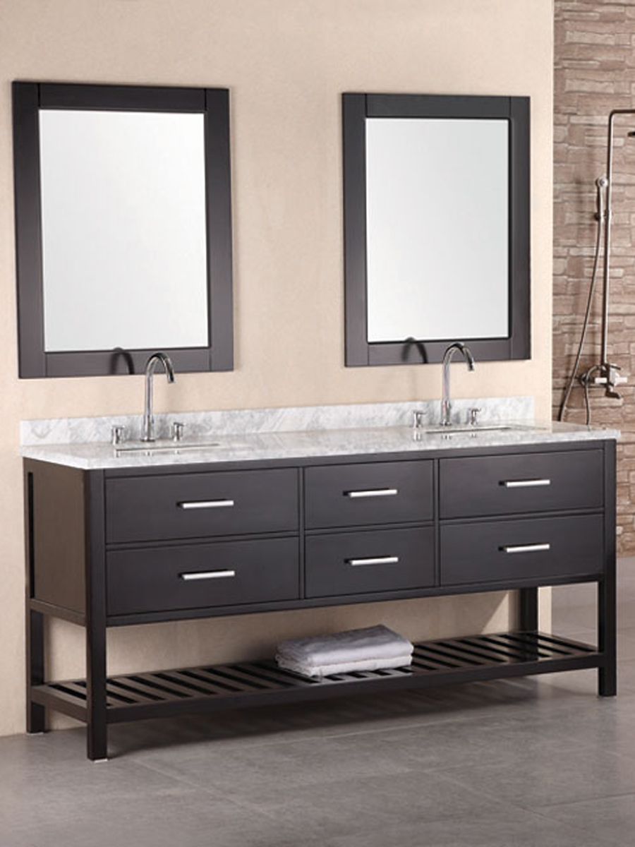 "72"" London Double Vanity with included mirrors"