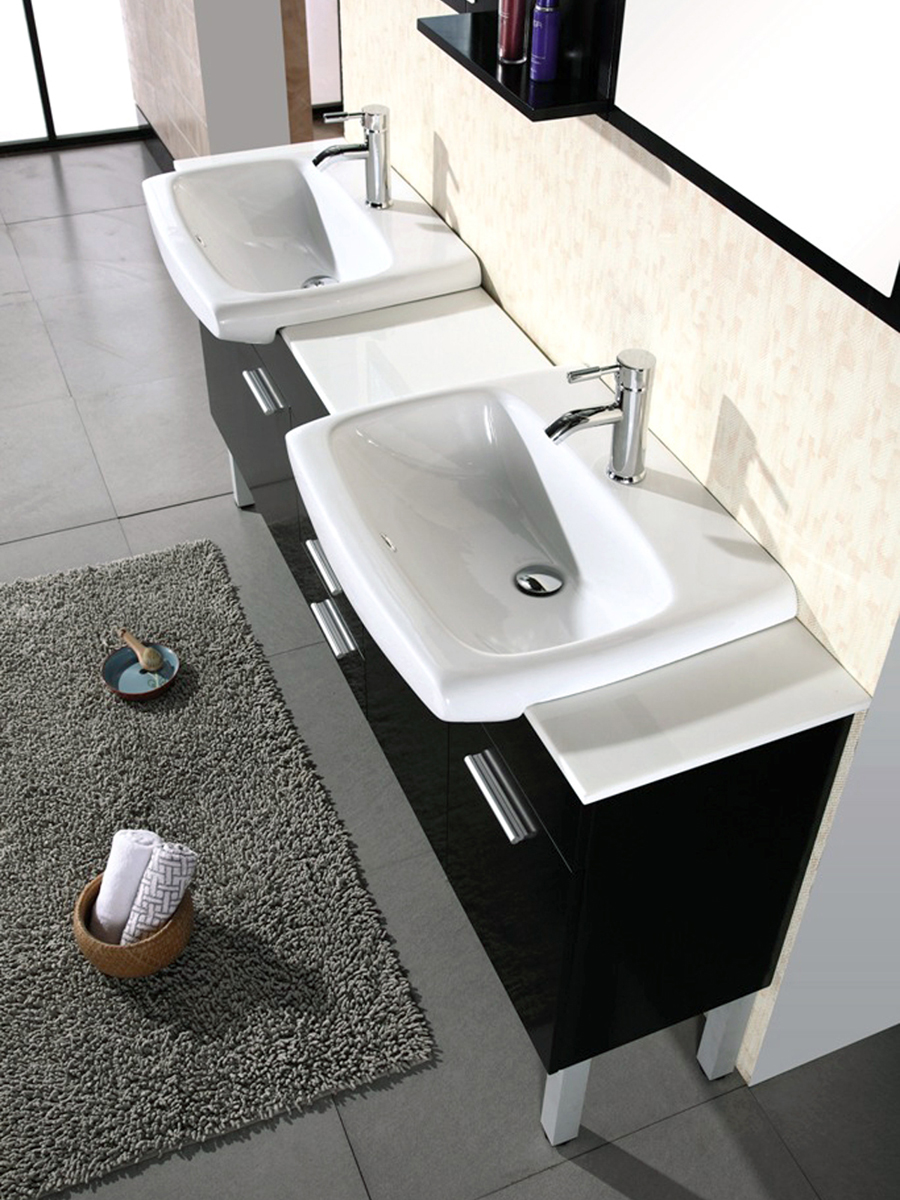 Artificial Stone top and porcelain sinks