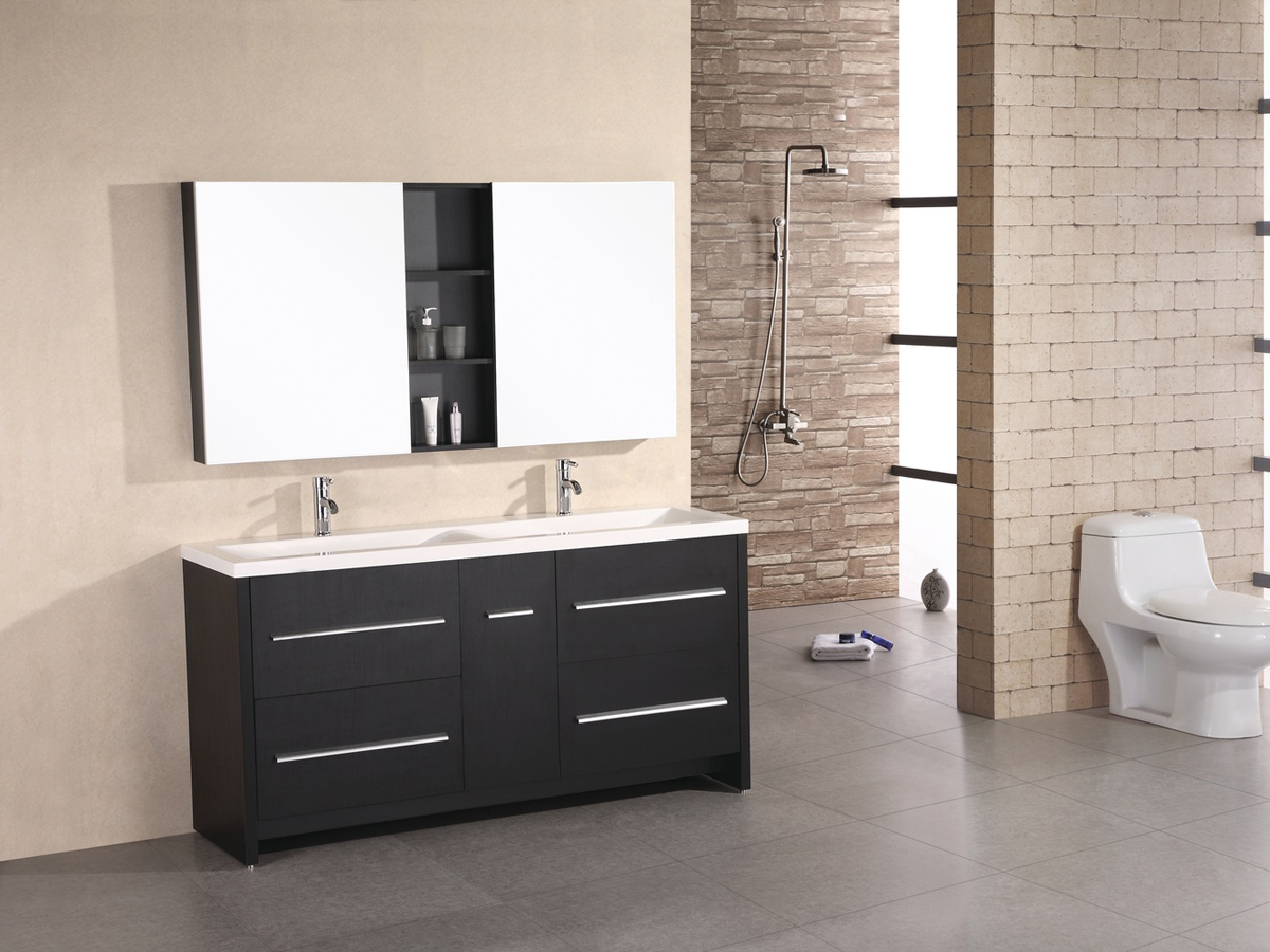 "63"" Perfecta Double Vanity - with included medicine cabinets"