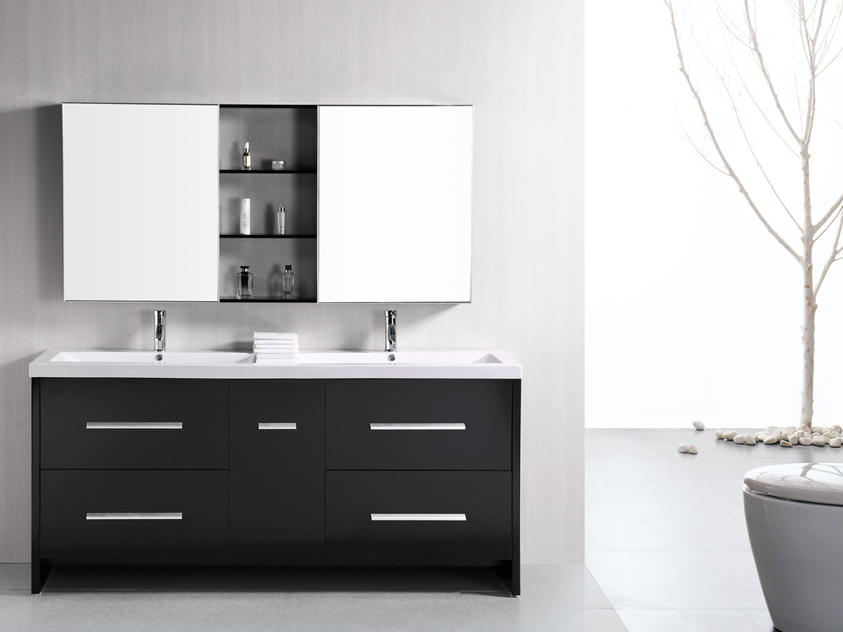 72 perfecta double sink vanity - 72 inch single sink bathroom vanity ...
