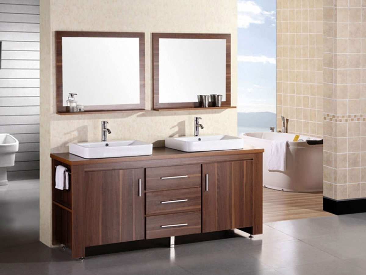 "72"" Washington Double Vanity with matching mirrors"