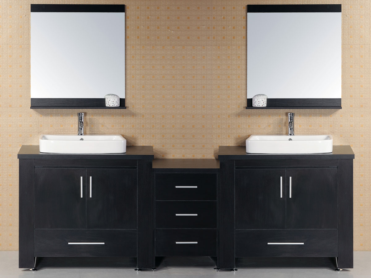 "96"" Washington Double Vanity with included mirrors"