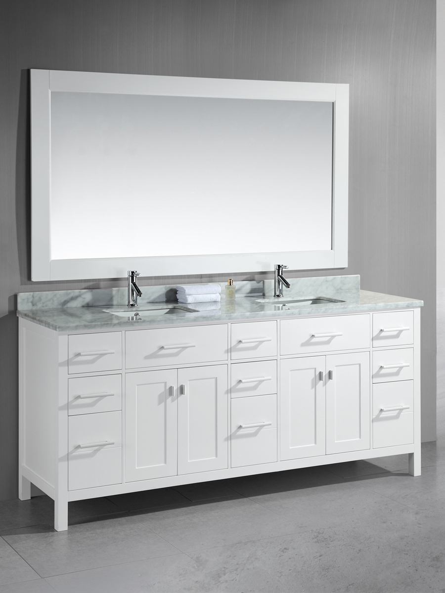 "78"" London Double Vanity with matching mirror"