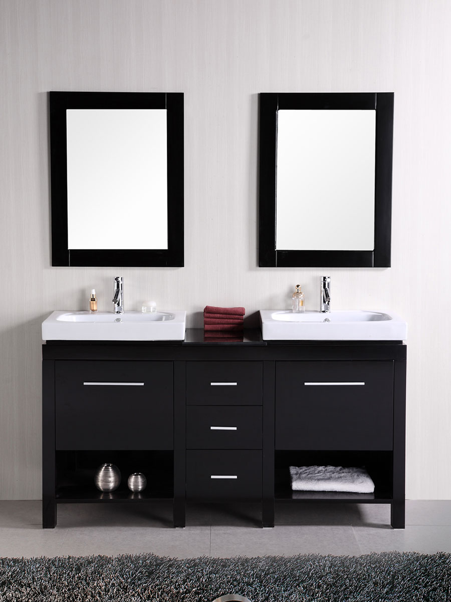 "60"" New York Double Vanity with matching mirrors"