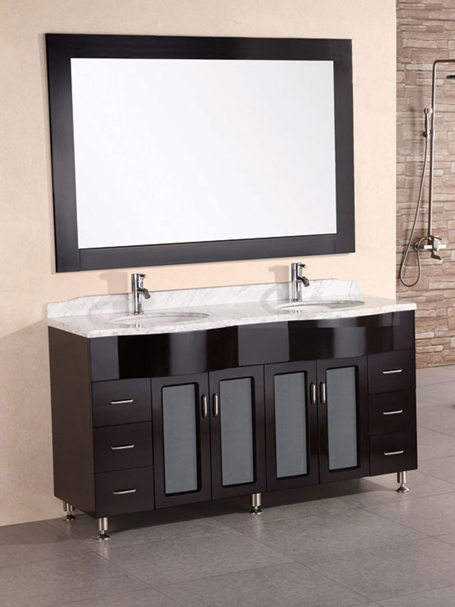 "61"" Bello Double Vanity with matching mirror"
