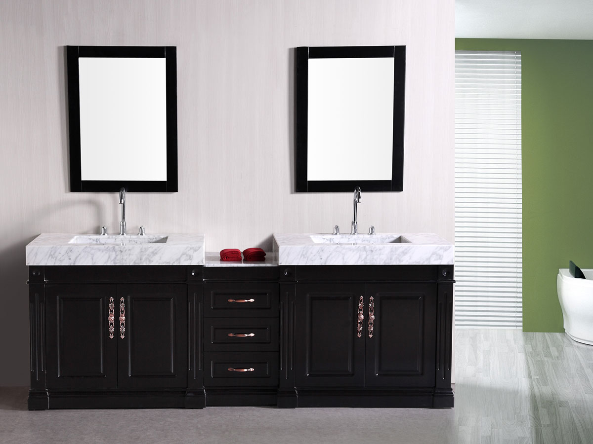 "90"" Odyssey Double Vanity with matching mirrors"