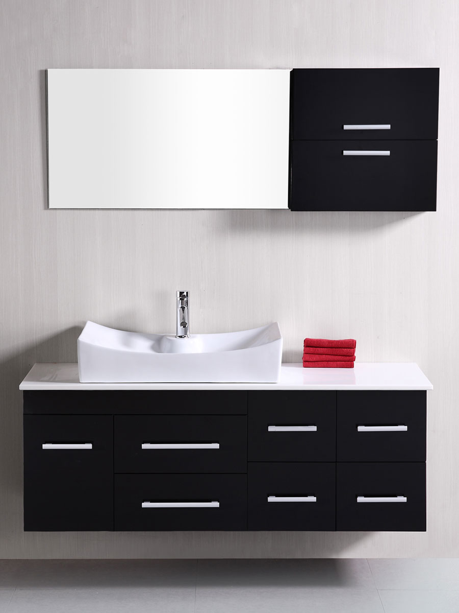 """55"""" Springfield Single Vanity - with included mirror and wall shelf"""