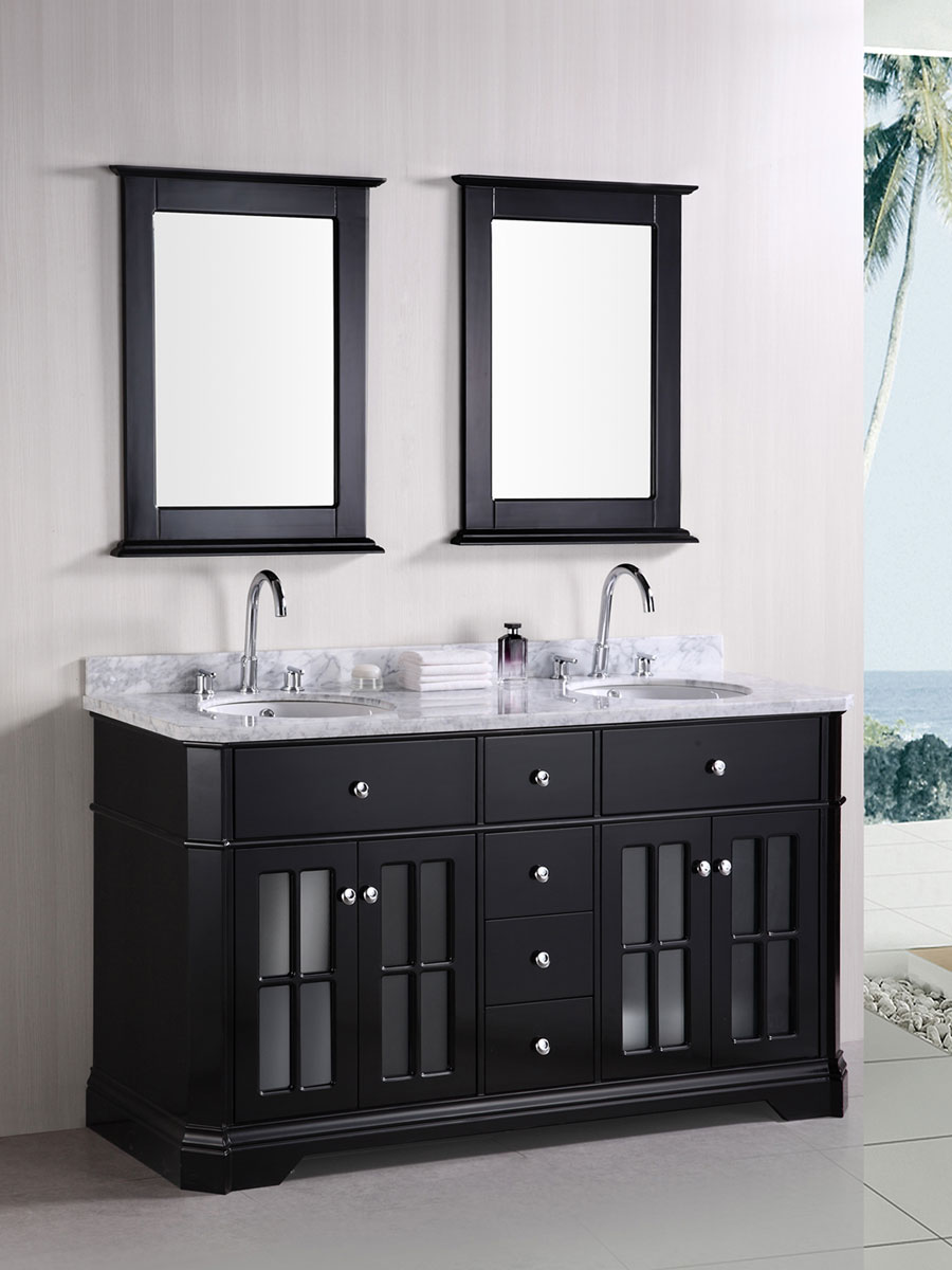 "60"" Imperial Double Vanity with matching mirrors"