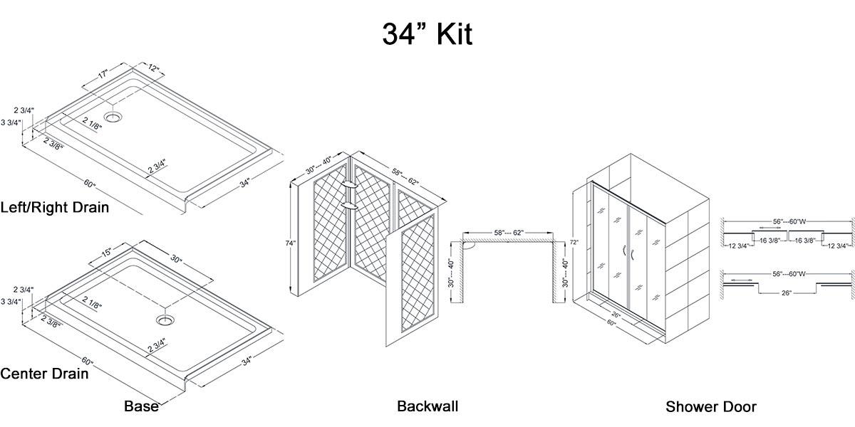 "34"" Kit - DImensions"
