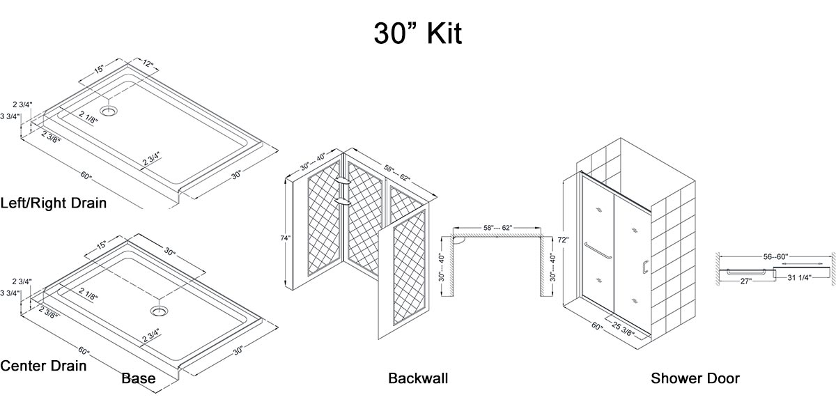 "30"" Kit - Dimensions"