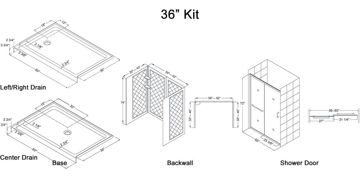 "36"" Kit - Dimensions"
