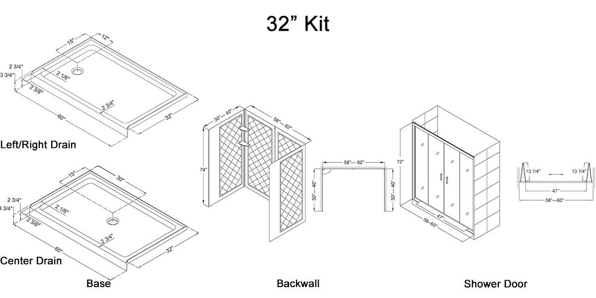 "32"" Kit - Dimensions"
