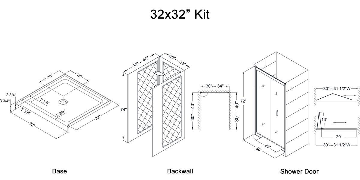 """32x32"""" Kit - Dimensions"""