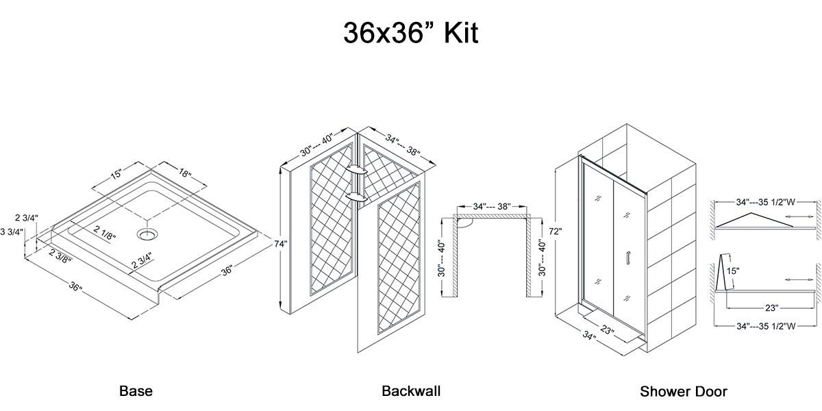 """36x36"""" Kit - Dimensions"""