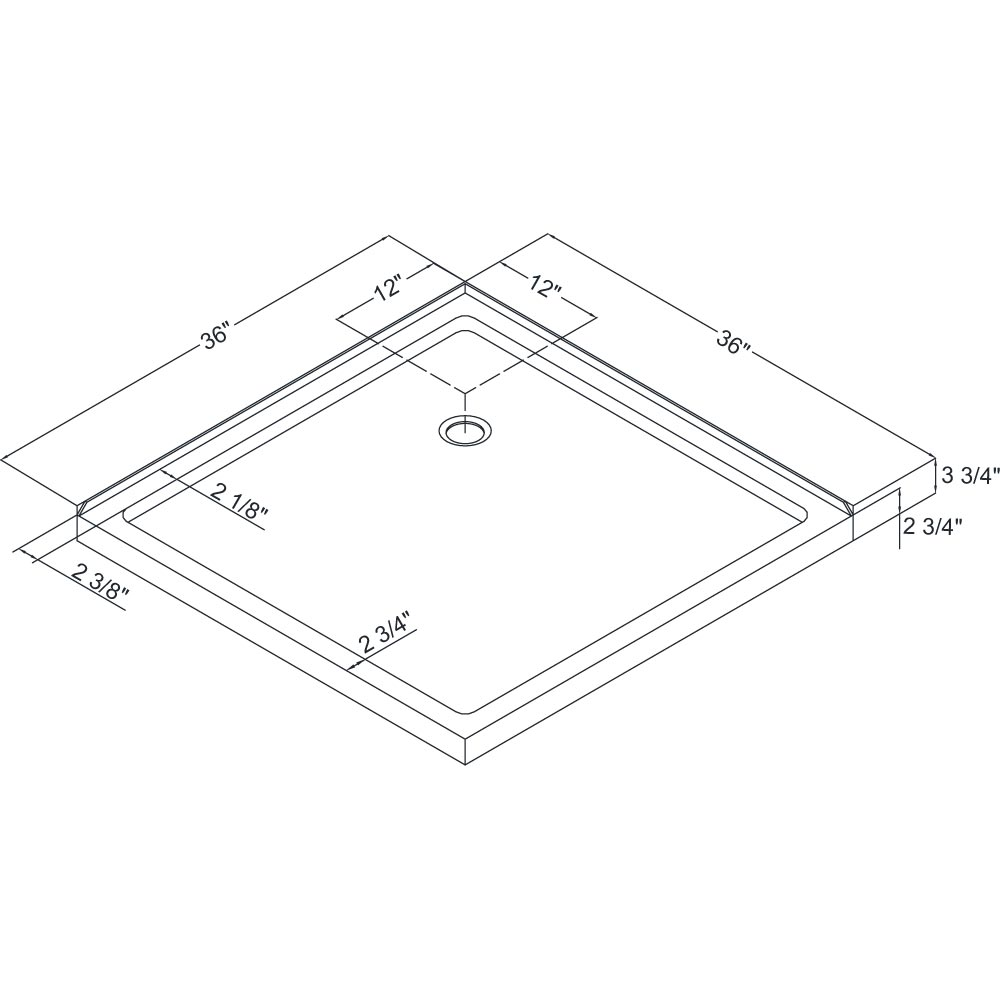 Shower Base   Dimensions