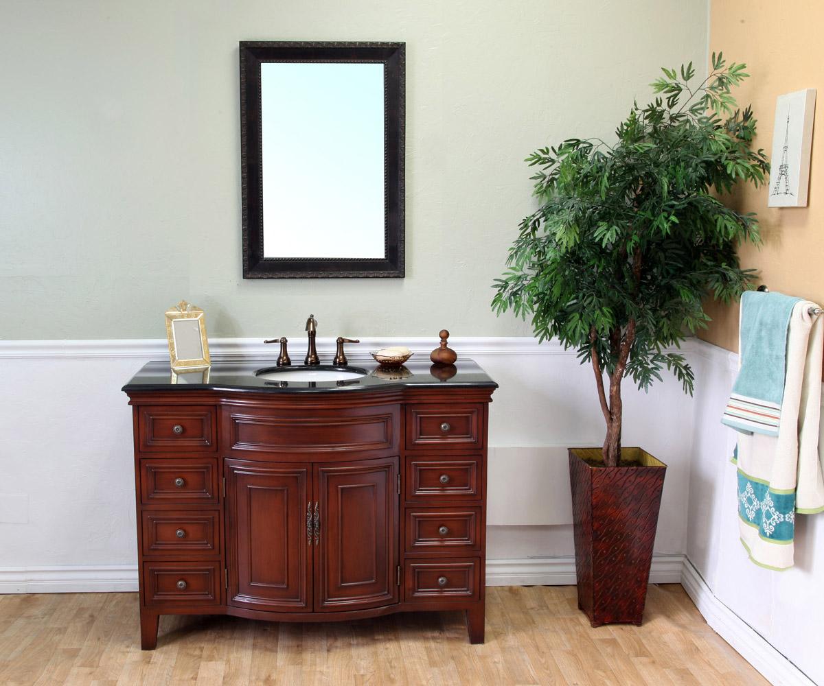 Traditional Vanity With Light Walnut Finsih
