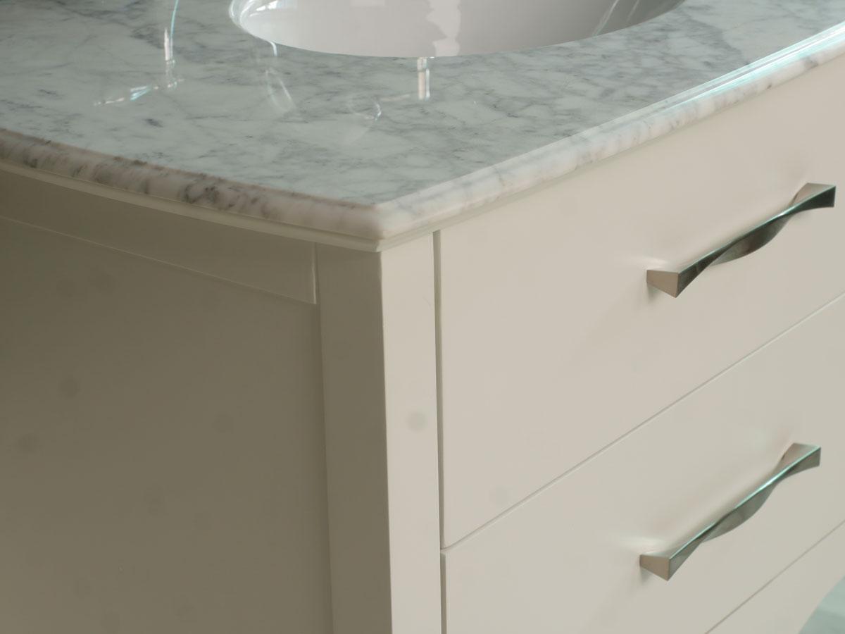 Italian Carrera White Marble top
